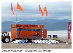 Dingle Sandstrand - Stand mit Surfbretter