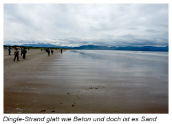 Dingle-Halbinsel am Sandstrand