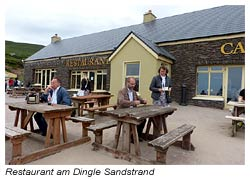 Dingle Sandstrand - Toiletten und Restaurant