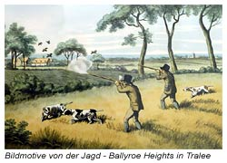 Jagdmotive als Bilder im Hotel Ballyroe Heights in Tralee