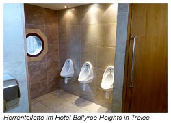 Herrentoilette im Hotel Ballyroe Heights in Tralee